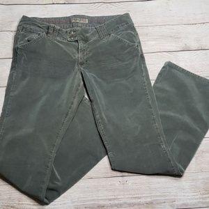 American Eagle Olive Green Corduroy Pants Size 10